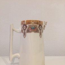 Antigüedades: JARRA ANTIGUA DE PORCELANA FRANCESA DE SARREGUEMINES. Lote 206546452