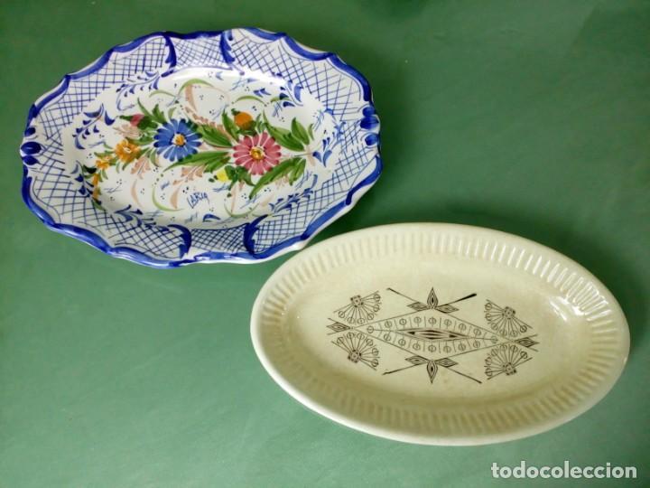 2 PLATOS ANTIGUOS DE CERAMICA LARIO Y VARGAS. (Antigüedades - Porcelanas y Cerámicas - Lario)