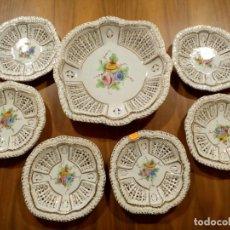 Antigüedades: JUEGO DE CERAMICA TRENZADA MANISES.. Lote 206552731