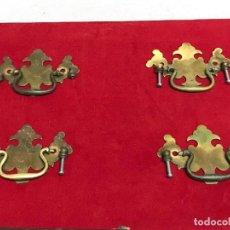 Oggetti Antichi: 4 JUEGOS DE TIRADORES DE BRONCE PARA CAJONERA. Lote 206553903