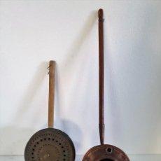 Antigüedades: PAREJA DE CALIENTA CAMAS. Lote 206559238