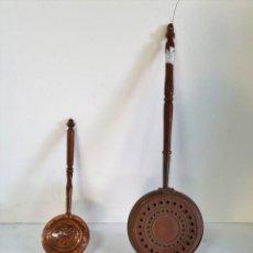 Antigüedades: PAREJA DE CALIENTA CAMAS. Lote 206559338