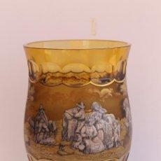 Antigüedades: JARRON DE CRISTAL DE BOHEMIA MOSER FIRMADO J.M.POHL. Lote 206559506