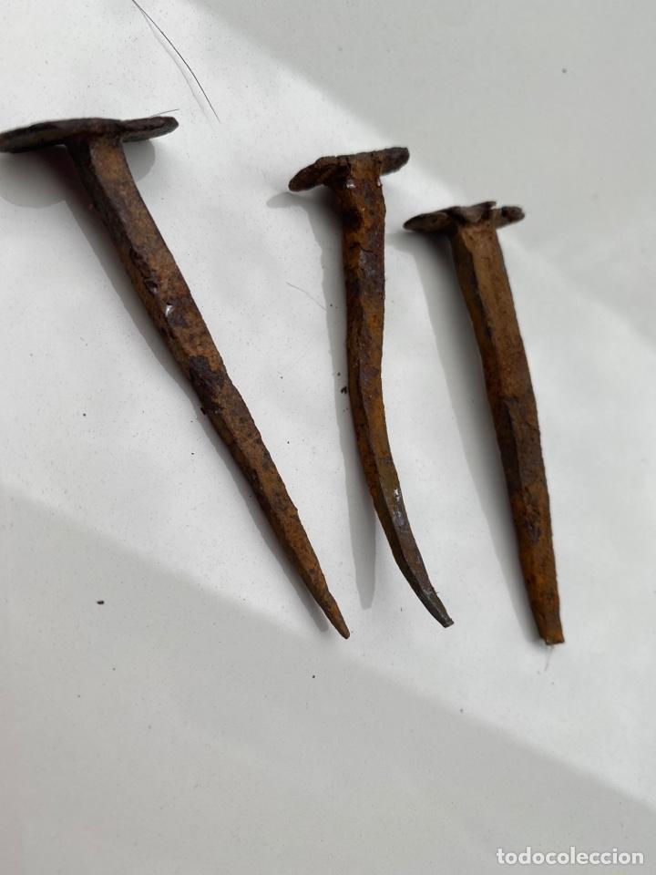 3 CLAVOS SIGLO XVI. 8CM (Antigüedades - Técnicas - Rústicas - Agricultura)