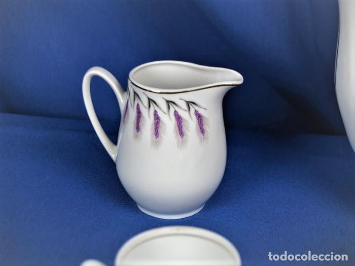 Antigüedades: Antiguo juego de cafe ceramicas Santa Clara Vigo - Foto 3 - 206580360