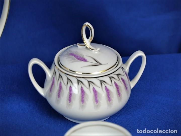 Antigüedades: Antiguo juego de cafe ceramicas Santa Clara Vigo - Foto 4 - 206580360
