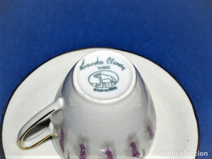 Antigüedades: Antiguo juego de cafe ceramicas Santa Clara Vigo - Foto 5 - 206580360