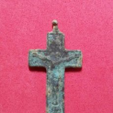 Antigüedades: ANTIGUA CRUZ RELIGIOSA CRUCIFIJO S.XVIII. Lote 206749890