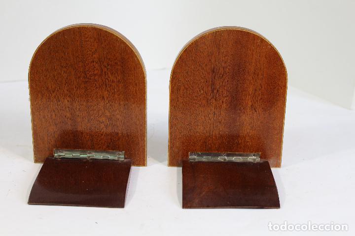 Antigüedades: pareja de sujetalibros plegables - Foto 6 - 206749951
