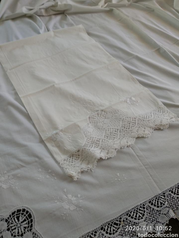 Antigüedades: Sabana y almohada antigüos - Foto 3 - 206758540