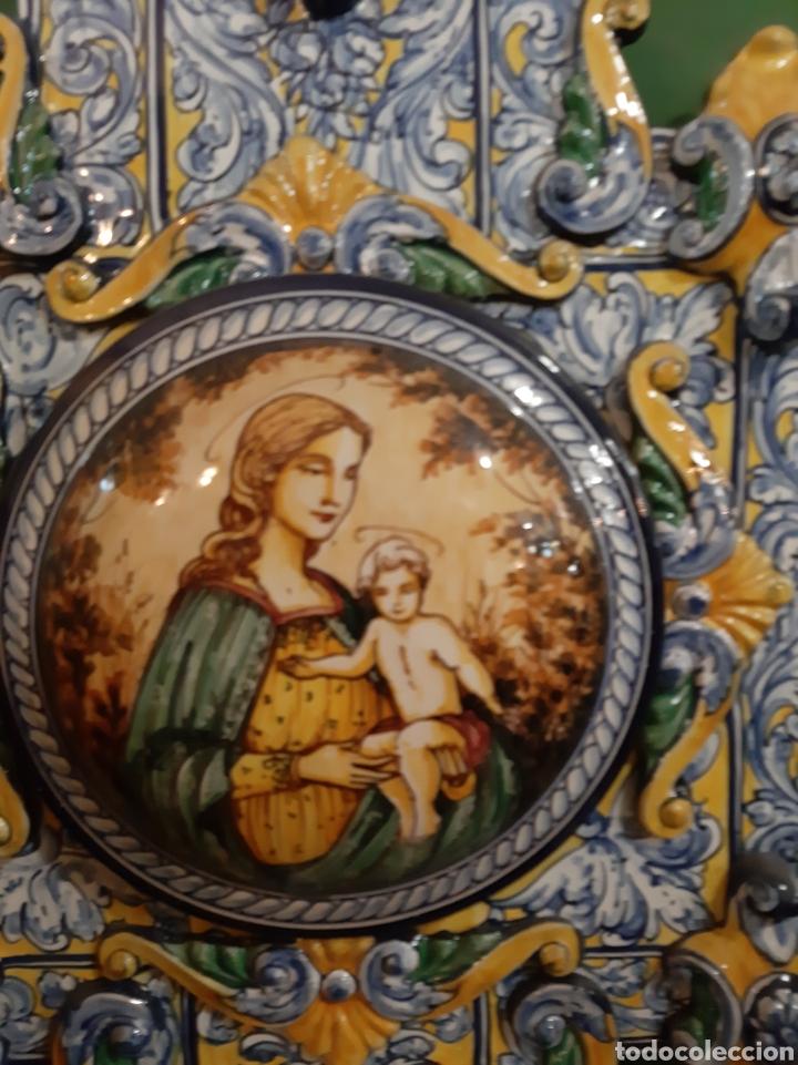 Antigüedades: Gran benditera Española 60 alto X 40 ancho MAESTRO ROBLES FIRMADA ESPAÑA - Foto 4 - 122170779