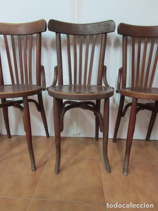 Antigüedades: Conjunto de 5 Sillas de Café - Silla Estilo Thonet - Madera de Haya - Años 30-40 - Foto 4 - 206784538