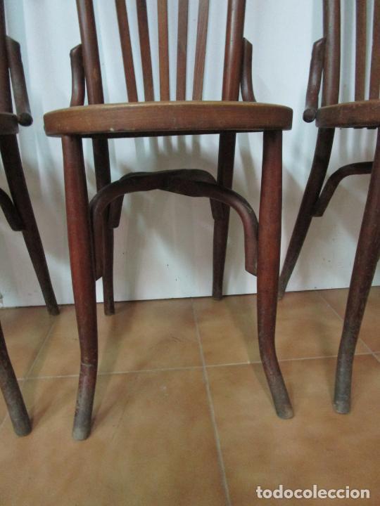 Antigüedades: Conjunto de 5 Sillas de Café - Silla Estilo Thonet - Madera de Haya - Años 30-40 - Foto 5 - 206784538