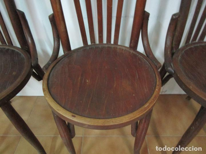 Antigüedades: Conjunto de 5 Sillas de Café - Silla Estilo Thonet - Madera de Haya - Años 30-40 - Foto 6 - 206784538