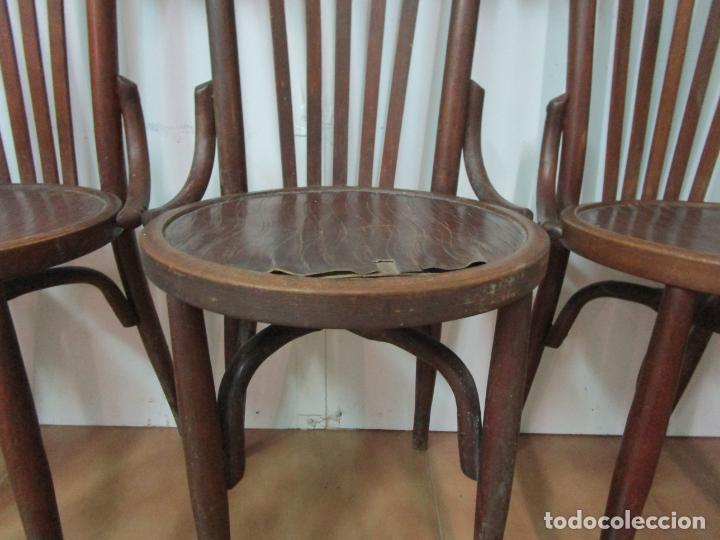 Antigüedades: Conjunto de 5 Sillas de Café - Silla Estilo Thonet - Madera de Haya - Años 30-40 - Foto 7 - 206784538