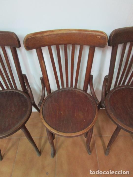 Antigüedades: Conjunto de 5 Sillas de Café - Silla Estilo Thonet - Madera de Haya - Años 30-40 - Foto 8 - 206784538