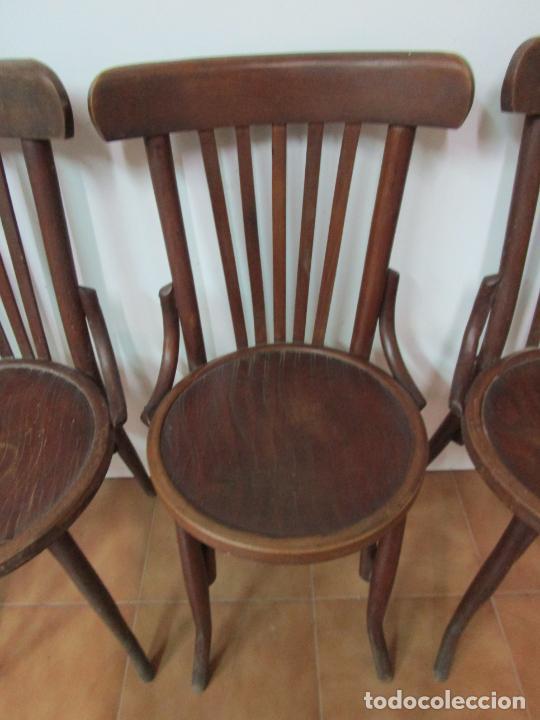 Antigüedades: Conjunto de 5 Sillas de Café - Silla Estilo Thonet - Madera de Haya - Años 30-40 - Foto 9 - 206784538