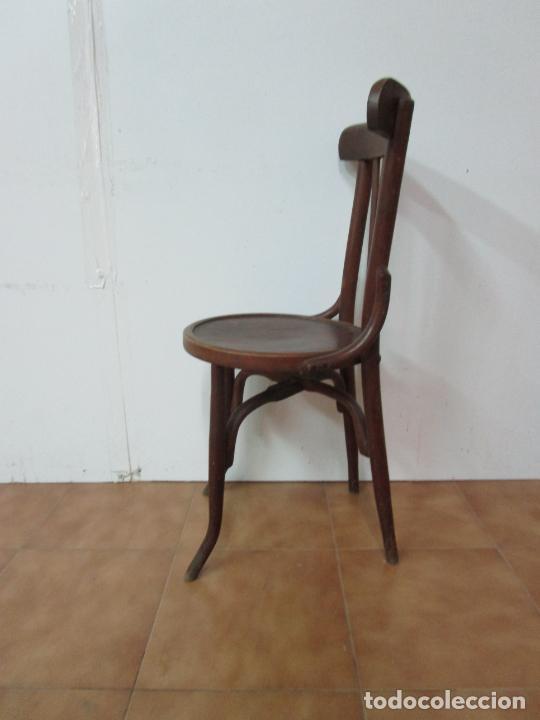 Antigüedades: Conjunto de 5 Sillas de Café - Silla Estilo Thonet - Madera de Haya - Años 30-40 - Foto 15 - 206784538