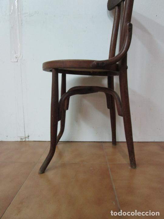 Antigüedades: Conjunto de 5 Sillas de Café - Silla Estilo Thonet - Madera de Haya - Años 30-40 - Foto 16 - 206784538