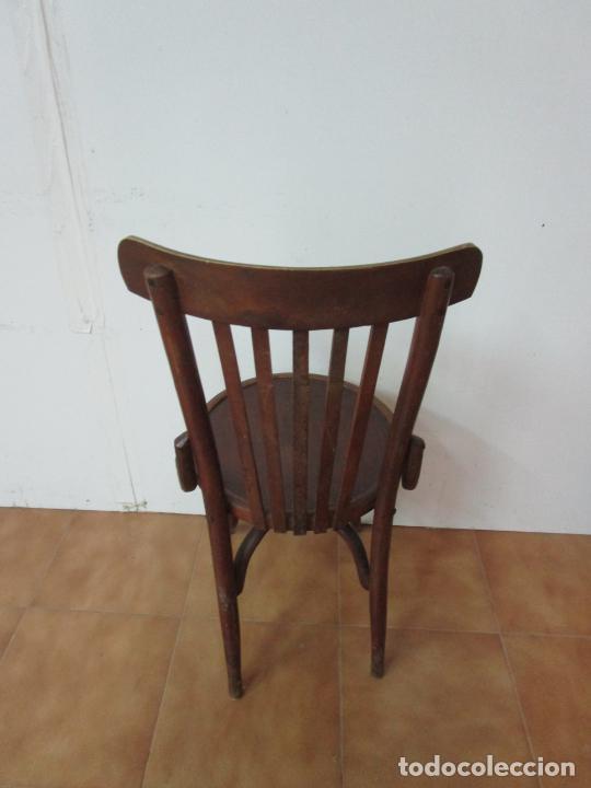 Antigüedades: Conjunto de 5 Sillas de Café - Silla Estilo Thonet - Madera de Haya - Años 30-40 - Foto 20 - 206784538