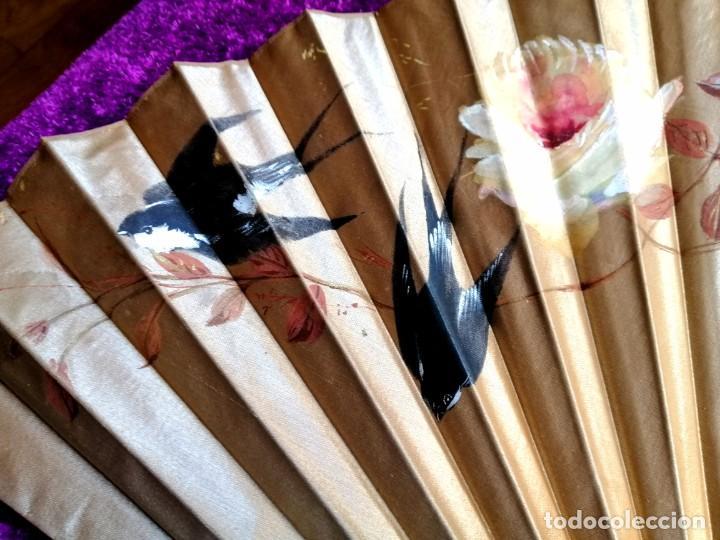 Antigüedades: Pericon seda y madera moble - Foto 6 - 206788345