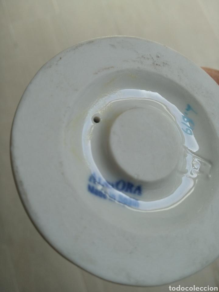 Antigüedades: Bella figura en porcelana esmaltada de niño tamborilero. Algora. Numerada. HS. 23 cm. - Foto 5 - 206790763