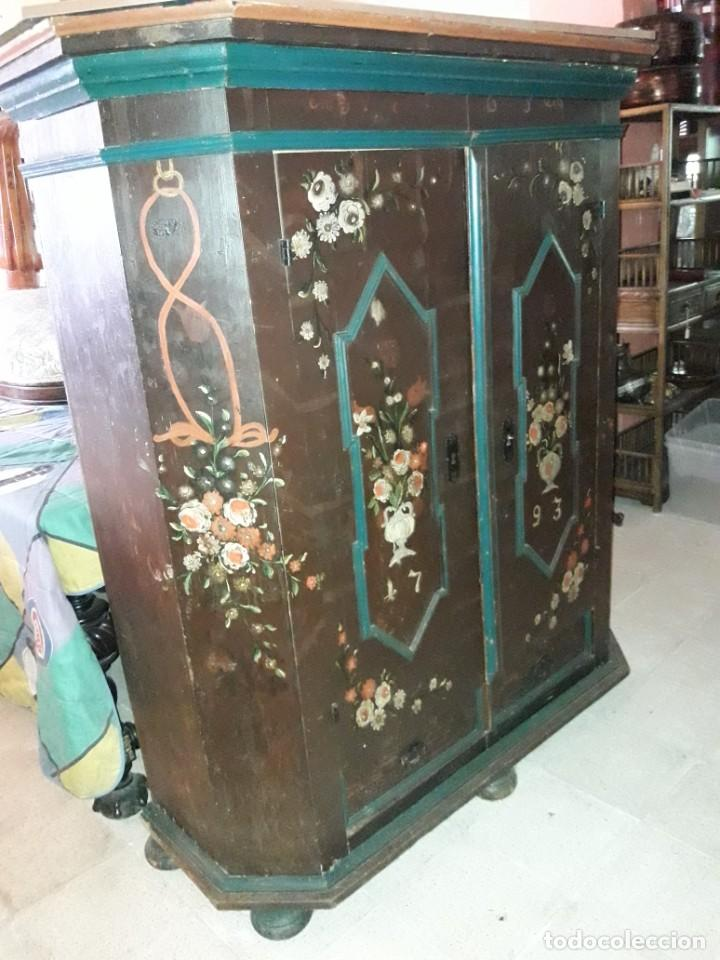 ARMARIO PINTADO (Antigüedades - Muebles Antiguos - Armarios Antiguos)