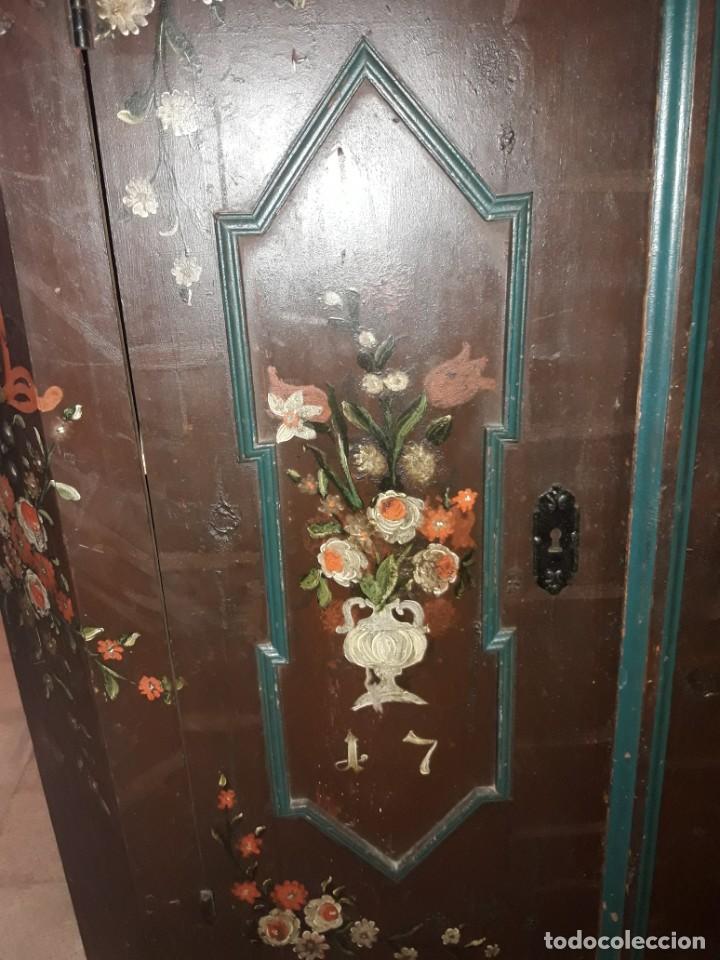 Antigüedades: Armario pintado - Foto 2 - 206805196