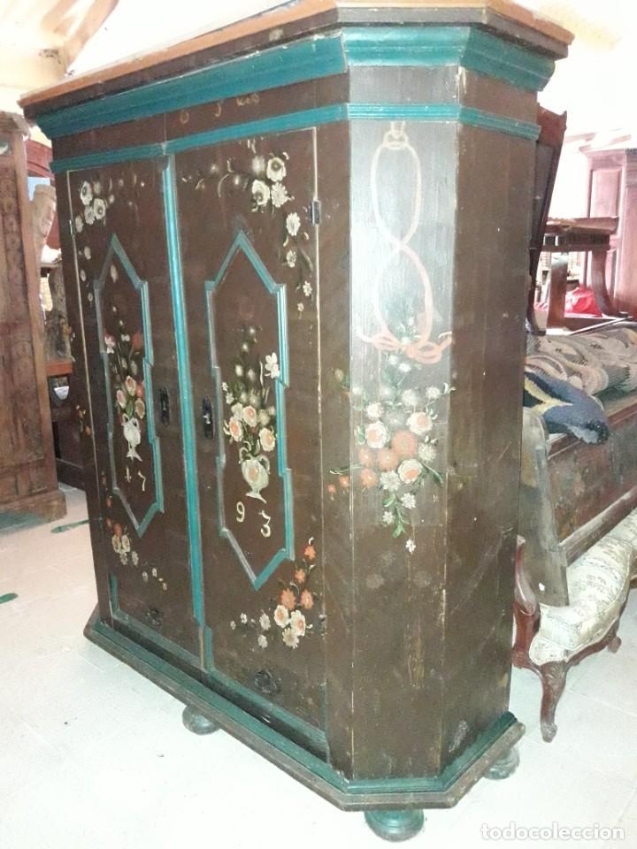 Antigüedades: Armario pintado - Foto 4 - 206805196
