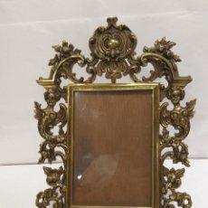 Antigüedades: PORTA RETRATOS ANTIGUO DE BRONCE DE MESA. Lote 206811696
