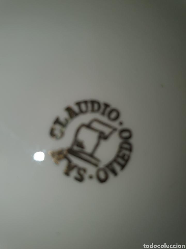 Antigüedades: Tarro con tapa de porcelana, san Claudio, Oviedo, decorado con locomotora, 13 cm, x 12 cm. - Foto 8 - 206823358