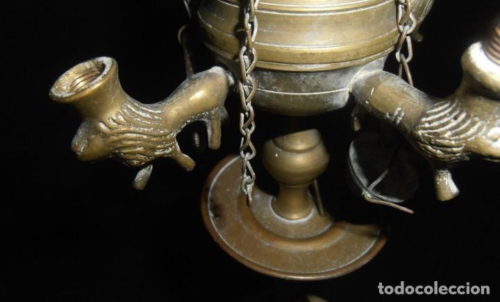 Antigüedades: QUINQUE DE BRONCE DE COMBUSTION A ACEITE - Foto 2 - 206826851