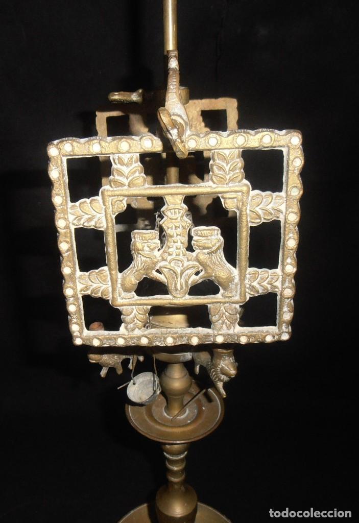 Antigüedades: QUINQUE DE BRONCE DE COMBUSTION A ACEITE - Foto 4 - 206826851
