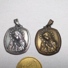 Antigüedades: 2 MEDALLAS PLATEADA Y BRONCE COLEGIOS INMACULADA CLARETIANAS. Lote 206831241