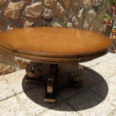 Antigüedades: MESA REDONDA EXTENSIBLE.. Lote 206839258
