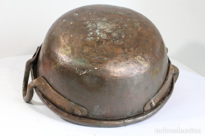 Antigüedades: perol antiguo de cobre - Foto 4 - 206854760