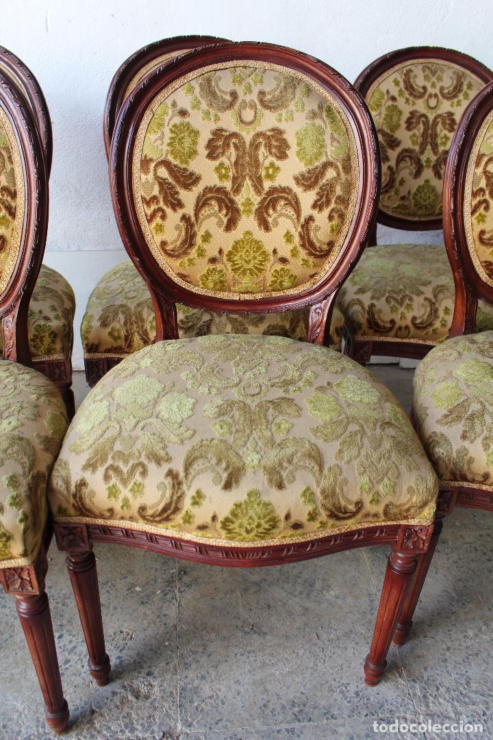 Antigüedades: 8 sillas de epoca - Foto 2 - 206858943