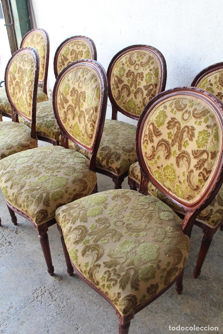 Antigüedades: 8 sillas de epoca - Foto 3 - 206858943