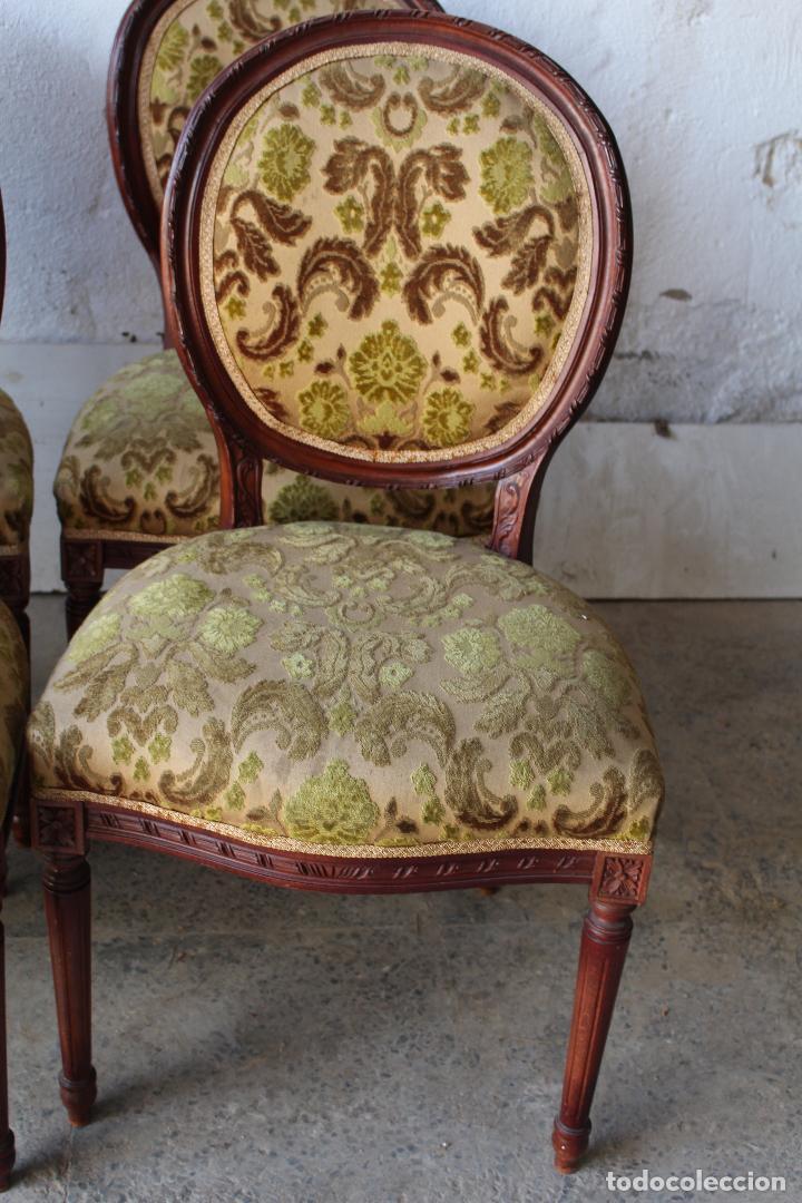 Antigüedades: 8 sillas de epoca - Foto 4 - 206858943