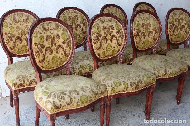 Antigüedades: 8 sillas de epoca - Foto 5 - 206858943