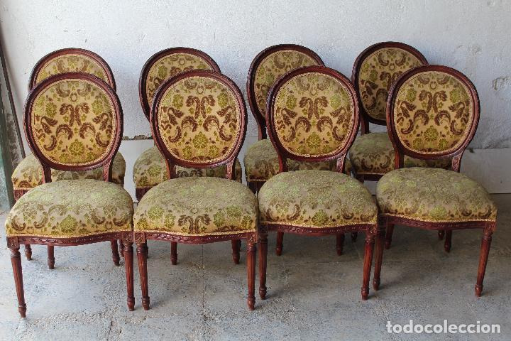 Antigüedades: 8 sillas de epoca - Foto 6 - 206858943