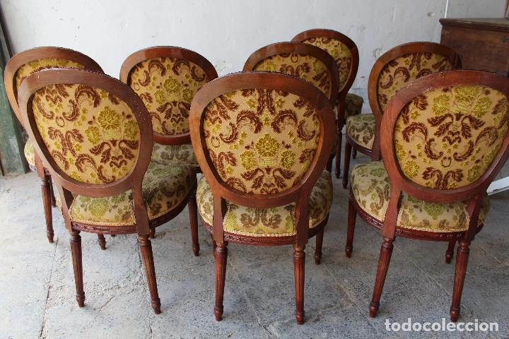 Antigüedades: 8 sillas de epoca - Foto 7 - 206858943