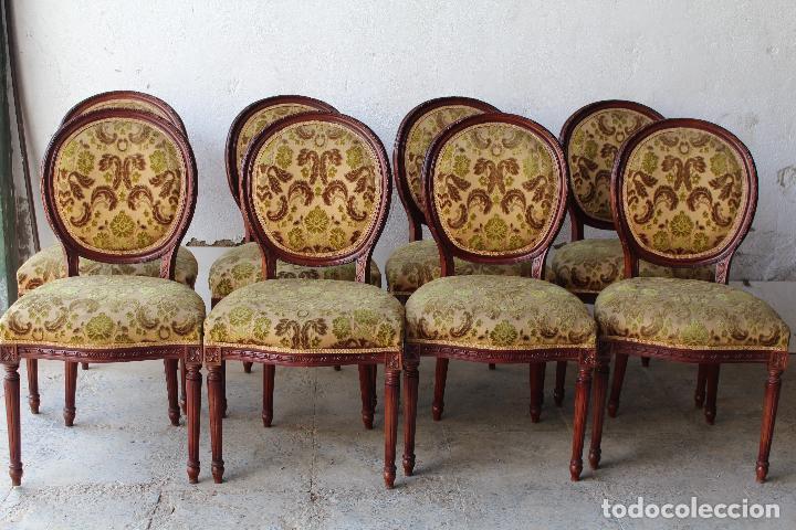 8 SILLAS DE EPOCA (Antigüedades - Muebles Antiguos - Sillas Antiguas)