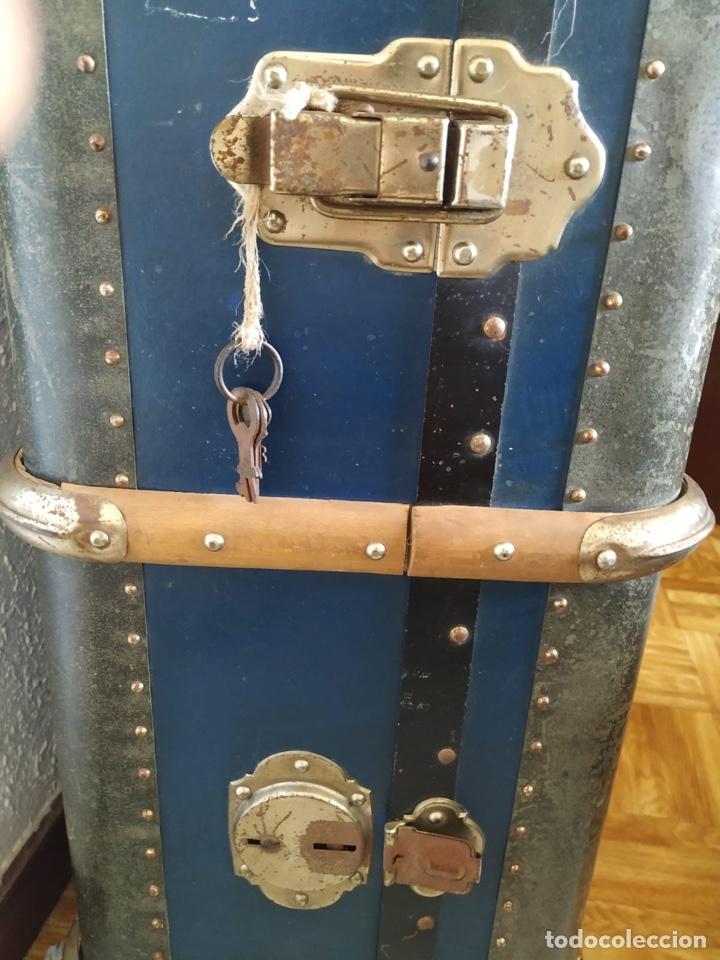 Antigüedades: Baúl maleta antigua enorme de viaje - Foto 2 - 206871081