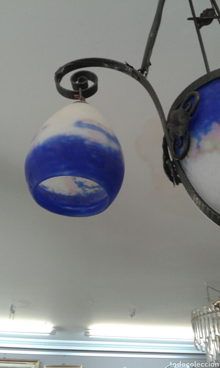 Antigüedades: Lámpara art deco firmada DEGUE (ORIGINAL) - Foto 7 - 206881548