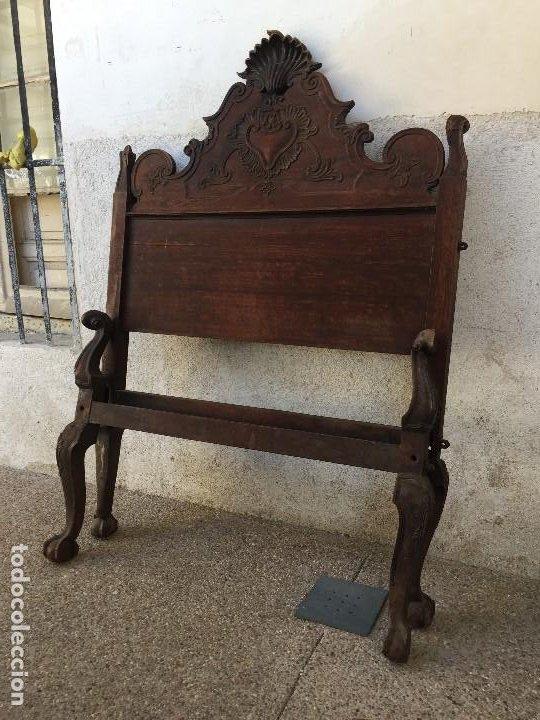 cabecero piecero cama madera de palosanto venera concha 2ª mitad S XVIII PORTUGAL 150 x 104 x 5 cm segunda mano