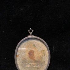 Antigüedades: RELICARIO SAN FRANCISCO JAVIER CON MARCO DE PLATA. Lote 206908483