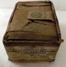 Antigüedades: CAJA DE CARTÓN DE 1895 PARA MEDICINAS IDEAL PARA COLECCIÓN. Lote 206931363