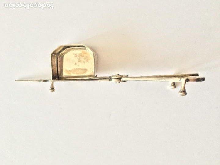Antigüedades: Despabiladera inglesa de plata ( Siglo XIX), con puzones. Pieza de coleccionista - Foto 2 - 206941627