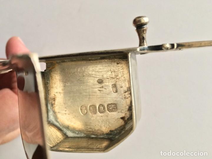Antigüedades: Despabiladera inglesa de plata ( Siglo XIX), con puzones. Pieza de coleccionista - Foto 3 - 206941627